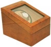 2+3 Walnut Dual Watch Winder Box AC/DC & Battery Operated